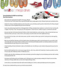 Mega Shoe Drive Guidelines