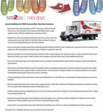 Mini Shoe Drive Guidelines