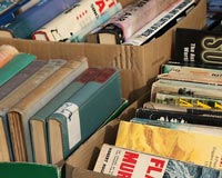 Collect used books sell them back to the community as a fundraiser.