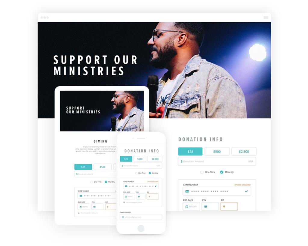 online donation platform sample