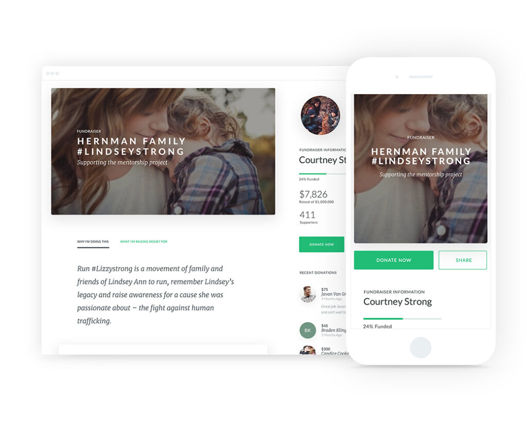 online donation platform concept